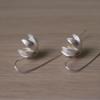 Сребърни обеци Лилия, проба 925, гръб