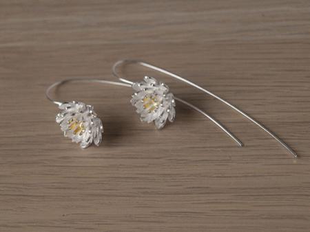 Елегантни сребърни обеци от колекцията Лотос